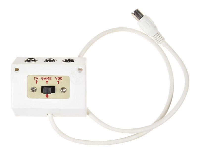 Бял RF разклонител с ключ 0.5м