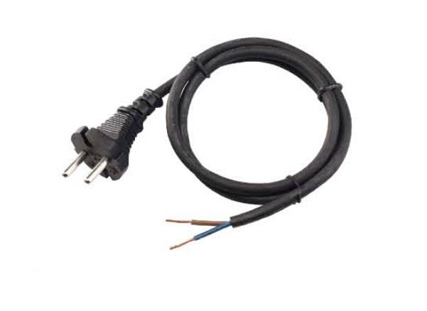 Захранващ кабел 2х1мм2 гумиран 3м