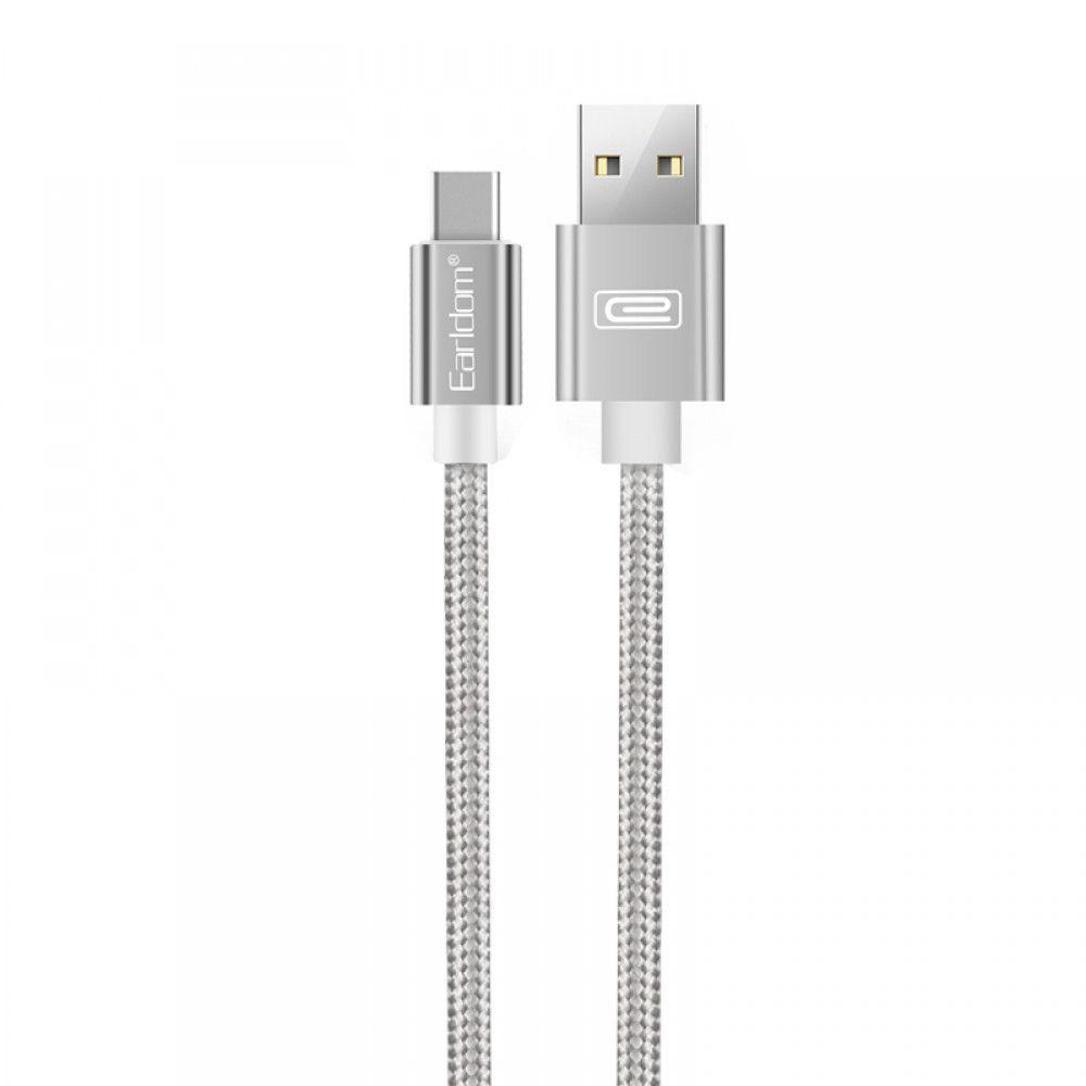 Кабел EC-011C USB Type-C 3м сребрист