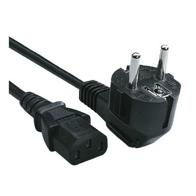 Захранващ кабел 3x1мм2 черен 1.8м