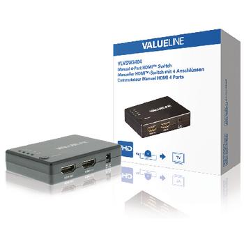 HDMI превключвател VLVSW3404 4входа и 1изход