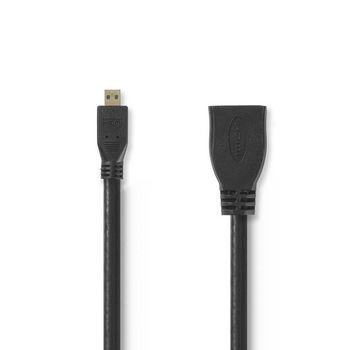 Преходник HDMI женски/micro HDMI мъжки 0.2м