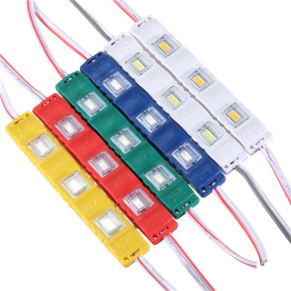 Син LED модул 12VDC/1.2W влагозащитен