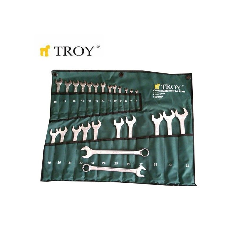 Комплект звездогаечни ключове TROY 21525 6-32мм