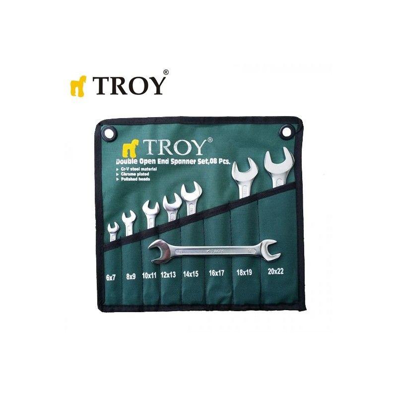 Комплект гаечни ключове TROY 21508 6-22мм