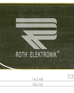 Двустранна универсална платка RE438-LF 100×160мм