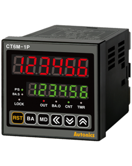 Брояч на импулси/време CT6M-2P4 100-240VAC